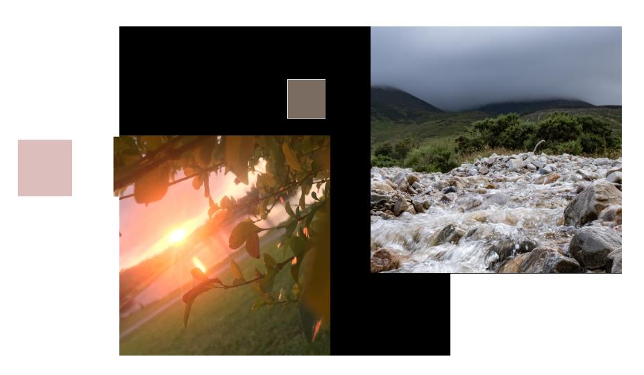 Waterfall and sunlight