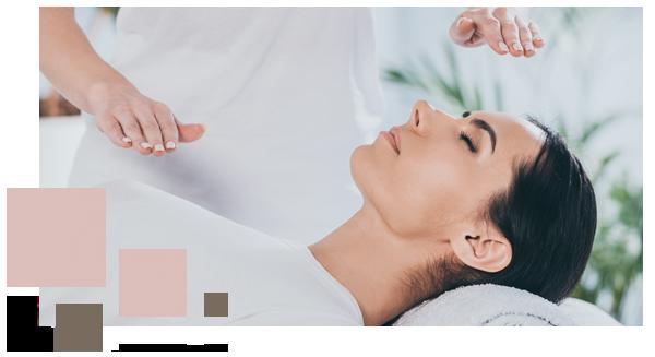 Woman receiving natural healing